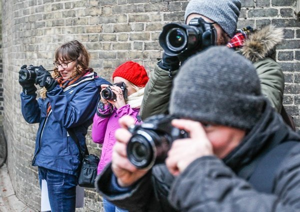 students on a photography course in Chelmsford
